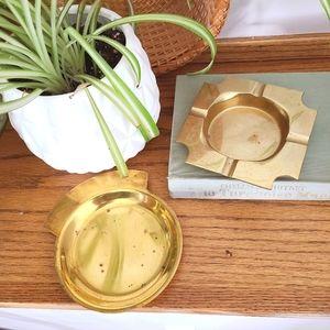Vintage Brass MCM Minimalist Jewelry Ring Dish
